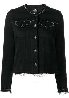 7 For All Mankind studded denim jacket