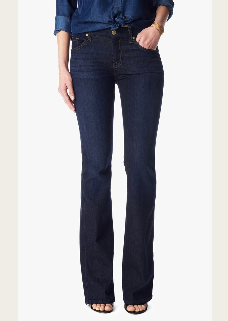 """7 For All Mankind Tailorless """"A"""" Pocket Flare in Slim Illusion Tried & True Blue (Short Inseam)"""