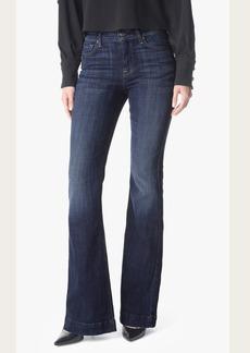 7 For All Mankind Tailorless Ginger Flare Leg Trouser in Royal Broken Twill (Short Inseam)