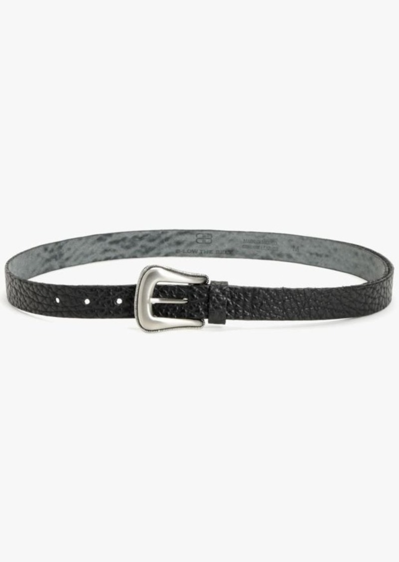 7 For All Mankind Taos Leather Belt in Black