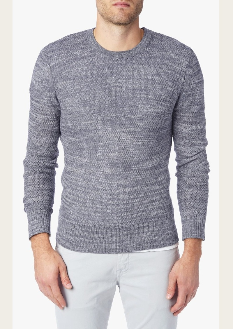 7 For All Mankind Textured Crew Neck Sweater in Heather Blue