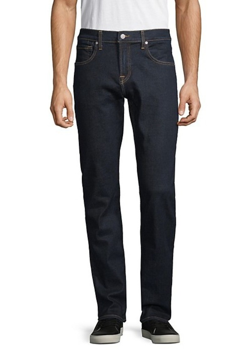 7 For All Mankind Textured Straight-Fit Jeans