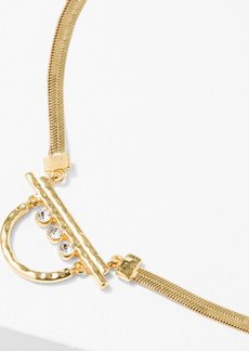 7 For All Mankind The 2 Bandits Glacier Necklace in Gold