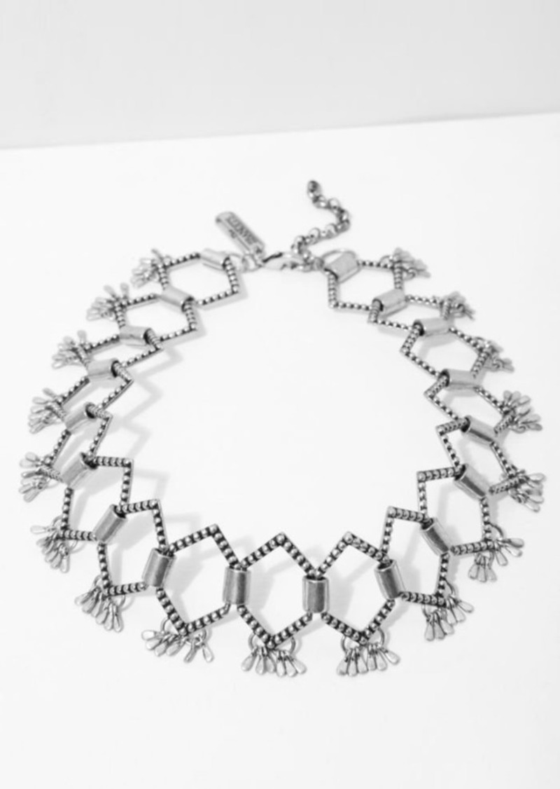 7 For All Mankind The 2 Bandits Monroe Choker in Silver