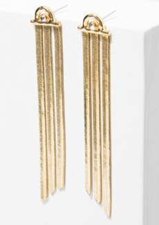 7 For All Mankind The 2 Bandits Sharon Earrings in Gold