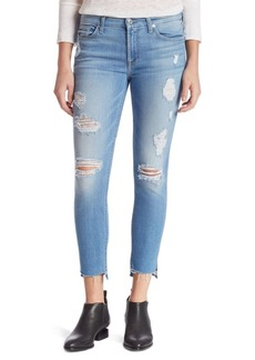 The Ankle Distressed Skinny Jeans