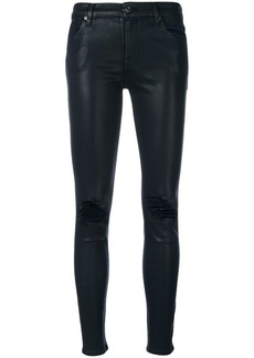 7 For All Mankind The Ankle Skinny distressed trousers