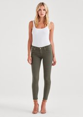 7 For All Mankind The Ankle Skinny in Army Green