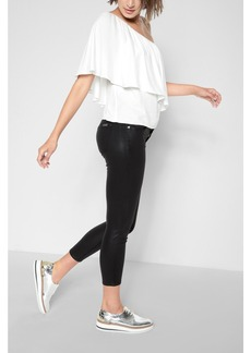 The Ankle Skinny in Black Coated Fashion