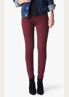 The Ankle Skinny in Cranberry Riche Sateen