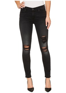 7 For All Mankind The Ankle Skinny w/ Destroy in Aged Onyx