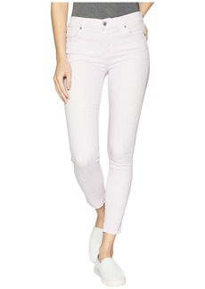 7 For All Mankind The Ankle Skinny w/ Released Hem in Pale Lavender