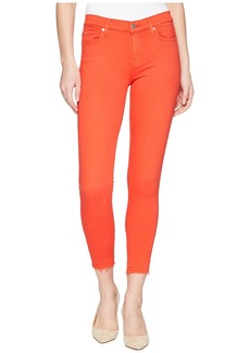 7 For All Mankind The Ankle Skinny w/ Released Hem in Poppy