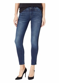7 For All Mankind The Ankle Skinny with Double Black Velvet Stripes in B(Air) Authentic Chance