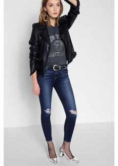 The Ankle Skinny with Knee Holes in Dark Paradise