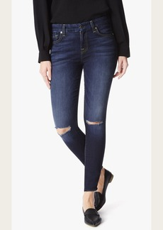 7 For All Mankind The Ankle Skinny With Knee Slits in Dark Canterbury