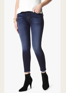 7 For All Mankind The High Waist Ankle Skinny With Raw Hem in Dark Canterbury