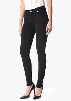 7 For All Mankind High Waist Skinny in Black Double Knit