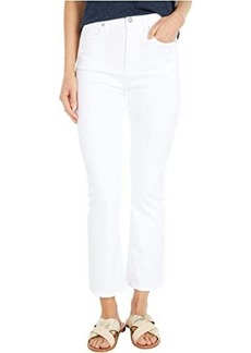 7 For All Mankind The High-Waist Slim Kick in Slim Illusion White