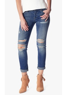 7 For All Mankind The Josefina Boyfriend with Destroy in Bright Light Broken Twill