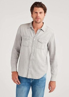7 For All Mankind The Scout Long Sleeve Shirt in Grey Coast