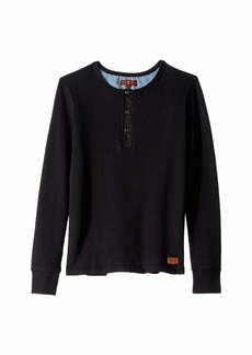 7 For All Mankind Thermal Long Sleeve Henley Pullover (Big Kids)