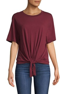 7 For All Mankind Tie-Front Cotton Tee