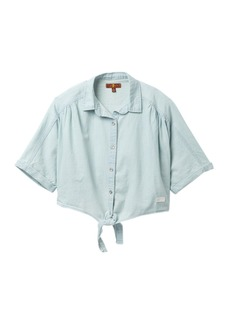 7 For All Mankind Tie Front Shirt (Big Girls)