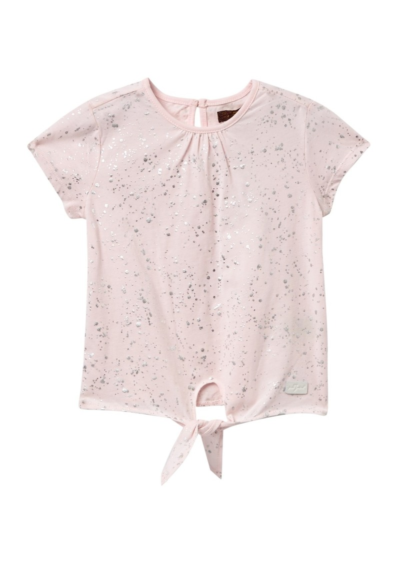 7 For All Mankind Tie Front T-Shirt (Little Girls)