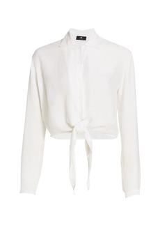7 For All Mankind Tie-Waist Button-Up Shirt
