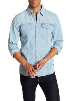 7 For All Mankind Trucker Distressed Denim Regular Fit Shirt