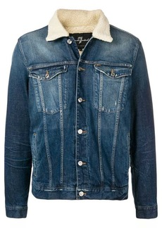 7 For All Mankind faux shearling trucker jacket