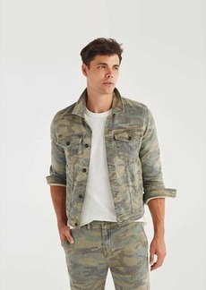 7 For All Mankind Trucker Jacket in Camo