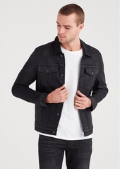 7 For All Mankind Trucker Jacket in Midnight Oil