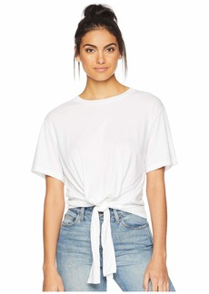 7 For All Mankind Tunnel Front Tee w/ Back Tab