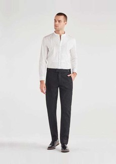 7 For All Mankind Tuxedo Trouser with Grosgrain Stripe in Black