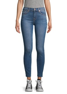 7 For All Mankind Undone-Cuff Skinny Jeans