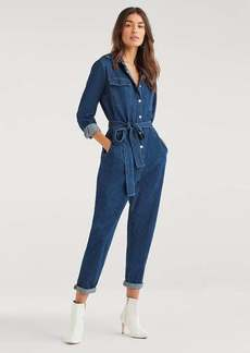 7 For All Mankind Utility Jumpsuit in Avant Rinse