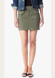 Utility Mini Skirt in Moss