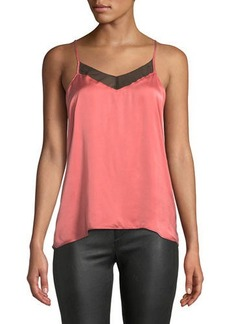 7 For All Mankind V-Neck Cami with Contrast Trim