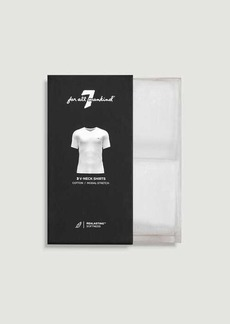 7 For All Mankind V Neck Tee 2 Pack in White
