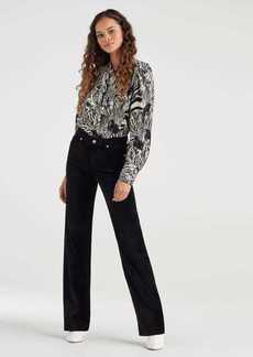 7 For All Mankind Velvet Alexa Trouser in Black