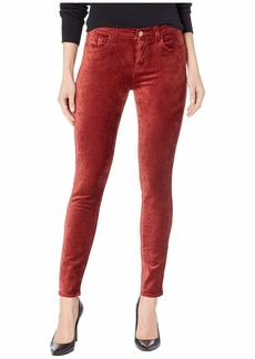 7 For All Mankind Velvet Ankle Skinny in Antique Pink