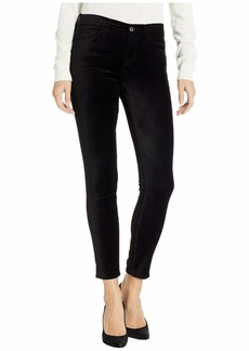 7 For All Mankind Velvet Ankle Skinny in Black