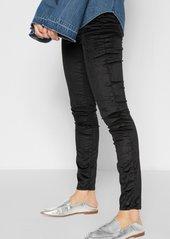 7 For All Mankind Velvet Ankle Skinny in Black