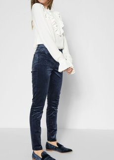 7 For All Mankind Velvet Ankle Skinny in Navy