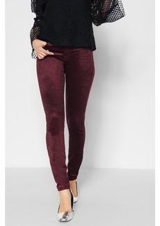 Velvet Ankle Skinny in Scarlet