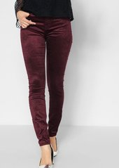 7 For All Mankind Velvet Ankle Skinny in Scarlet