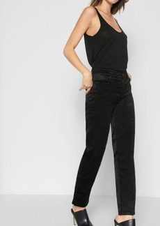7 For All Mankind Velvet Edie with Zipper Fly in Black