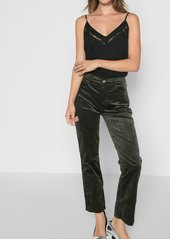 7 For All Mankind Velvet Edie with Zipper Fly in Evergreen